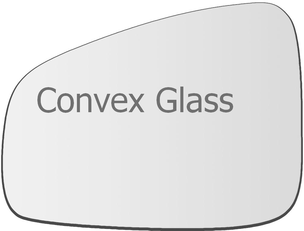 For Renault Megane 3 2008-2016 Left passenger side wing mirror glass