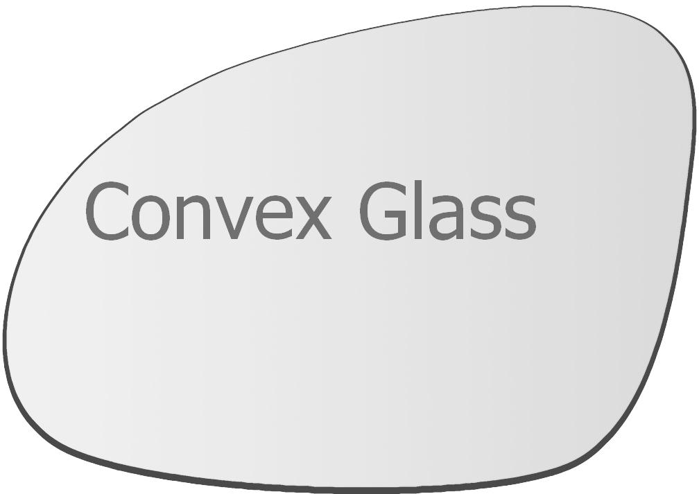 2000-2005 Right Driver Side Wing Mirror Glass For VW Passat B5 3BG