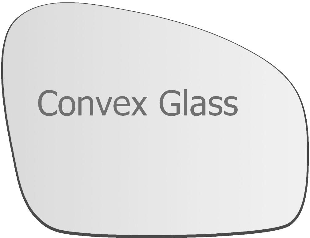 Skoda Fabia 2007-2014 right driver side convex mirror glass 82RS