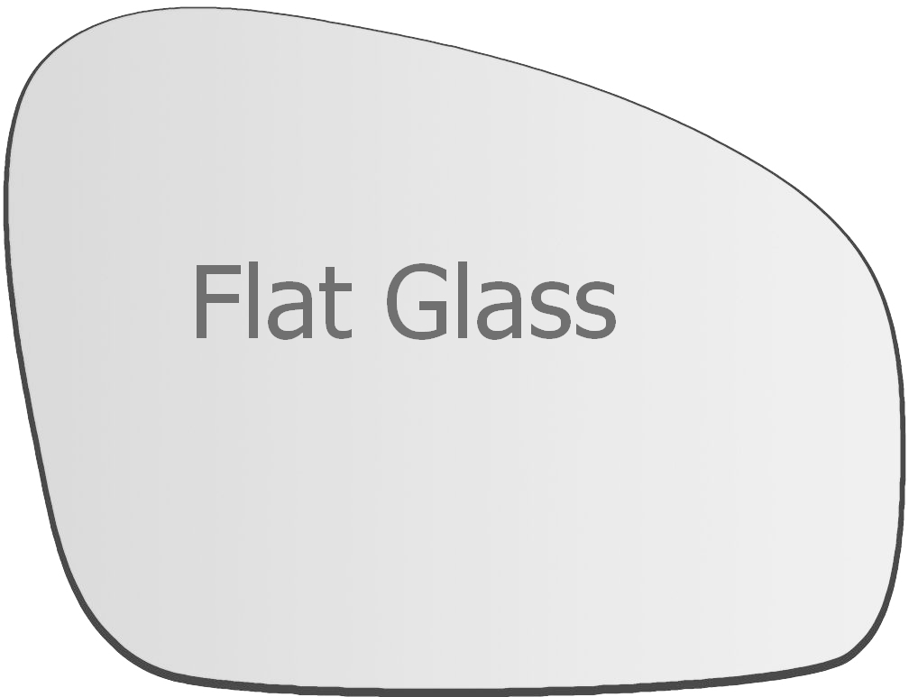 For Skoda Octavia 09-12 Left passenger side Flat wing mirror glass with plate